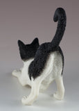 Black and White Cat Stretching Figurine 5