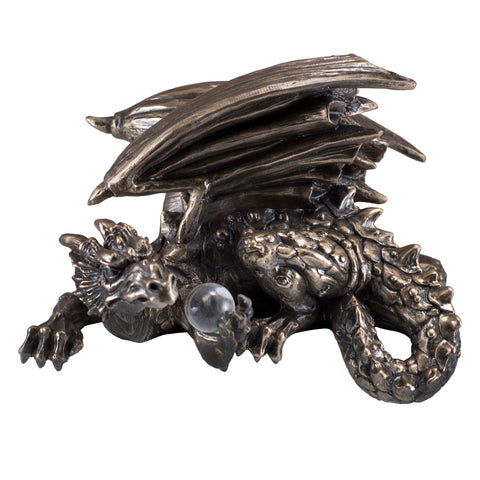 Dragon With Crystal Ball Shelf Sitter Figurine 1