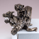 Dragon With Crystal Ball Shelf Sitter Figurine 4