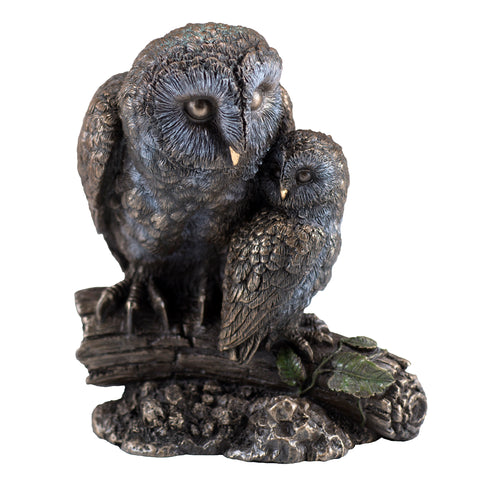 Barn Owl With Baby Owlet Figurine 1