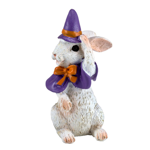 Miniature Rabbit With Witch's Hat Figurine 1