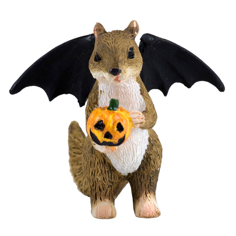 Halloween Squirrel With Bat Wings Miniature Figurine 1