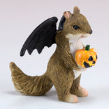 Halloween Squirrel With Bat Wings Miniature Figurine 2