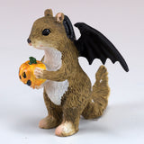 Halloween Squirrel With Bat Wings Miniature Figurine 3
