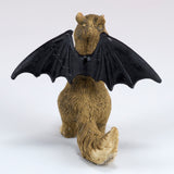 Halloween Squirrel With Bat Wings Miniature Figurine 4