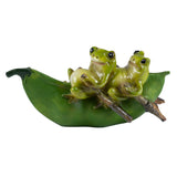 Mini Frogs On Pea Pod Boat Figurine 1