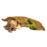 Little Fairy Sleeping With Frog Figurine 1