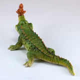 Chompie The Gator With Frog Alligator Figurine 3