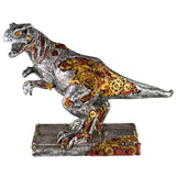 Steampunk Dinosaur T-Rex Silver and Gold Colored Figurine