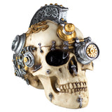 Steampunk Skull With Gears Figurine
