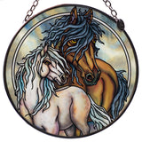 Wild Horses Hand Painted AMIA Glass Suncatcher 1