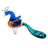 Hand Blown Glass Peacock Figurine 1