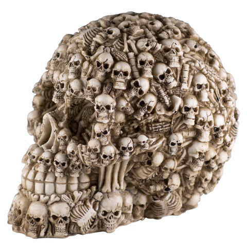 Skull Figurine With Skeletons and Bones 1