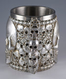 Silver Skull Mug 14 Oz. Stainless Steel Interior