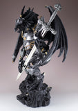 Black Dragon In Armor With Sword Figurine Statue 2