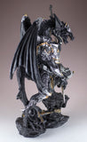 Black Dragon In Armor With Sword Figurine Statue 3