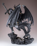 Black Dragon In Armor With Sword Figurine Statue 4