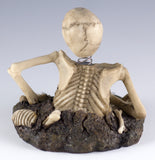 Bobblehead Skeleton With Little Skull Figurine 9