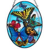 Blue Skies Butterflies Glass Suncatcher By AMIA Studio 1