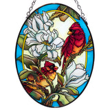 Cardinals In Magnolia Glass Suncatcher By AMIA 1