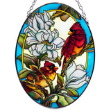 Cardinals In Magnolia Glass Suncatcher By AMIA 2