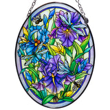 Dragonflies and Irises Glass Suncatcher By AMIA 1
