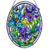 Dragonflies and Irises Glass Suncatcher By AMIA 3