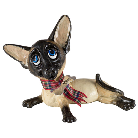 "Little Paws ""Slinky"" Siamese Cat Figurine"