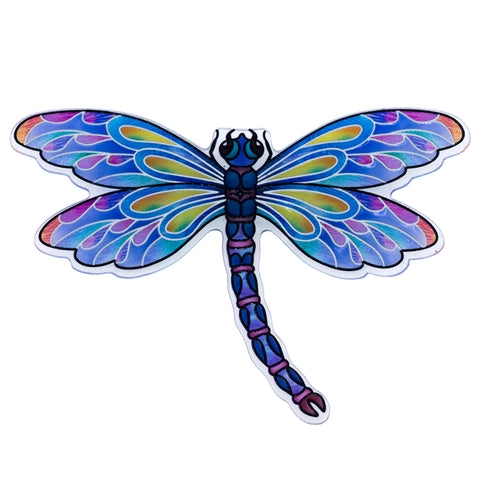 Clear Purple Dragonfly Magnet By AMIA