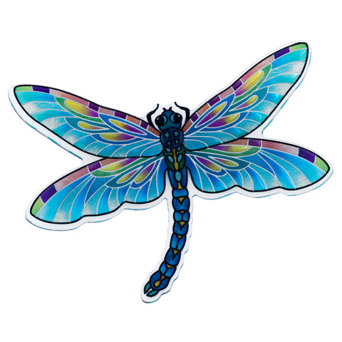 Clear Blue Dragonfly Magnet By AMIA Studio