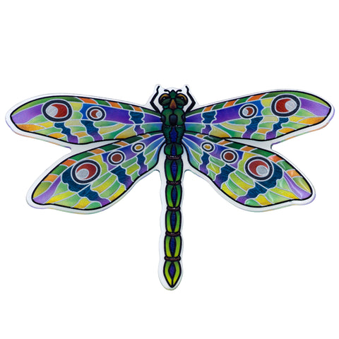 Clear Green Dragonfly Magnet By AMIA