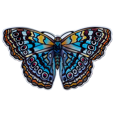 White Peacock Butterfly Magnet By AMIA