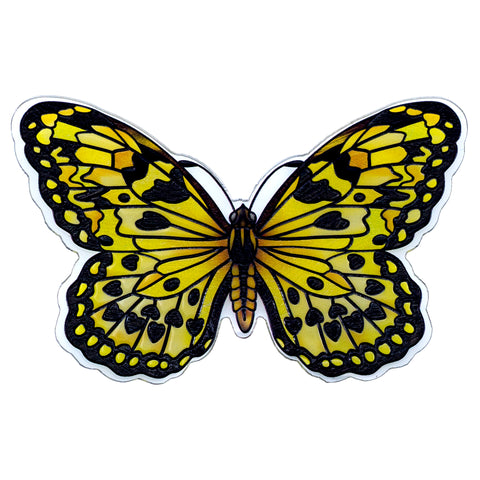 Yellow Large Tree Nymph Butterfly Magnet By AMIA