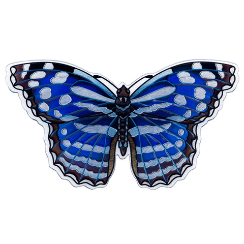 Blue Mexican Bluewing Butterfly Magnet By AMIA