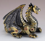 Steampunk Dragon Silver and Gold Colored Figurine 3