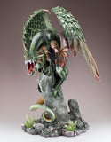 Green Dragon Guarding Fairy Figurine 4