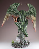 Green Dragon Guarding Fairy Figurine 5