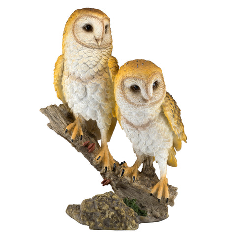 Barn Owls On Branch Figurine 1