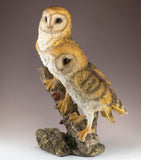 Barn Owls On Branch Figurine 2