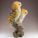 Barn Owls On Branch Figurine 4