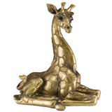 Giraffe Baby Calf Figurine Laying Brass/Bronze