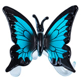 Hand Blown Glass Blue Butterfly Figurine 1
