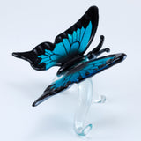 Hand Blown Glass Blue Butterfly Figurine 4