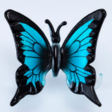 Hand Blown Glass Blue Butterfly Figurine 2