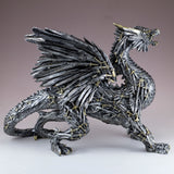 Swords and Knives Dragon Silver Colored Figurine Statue 3