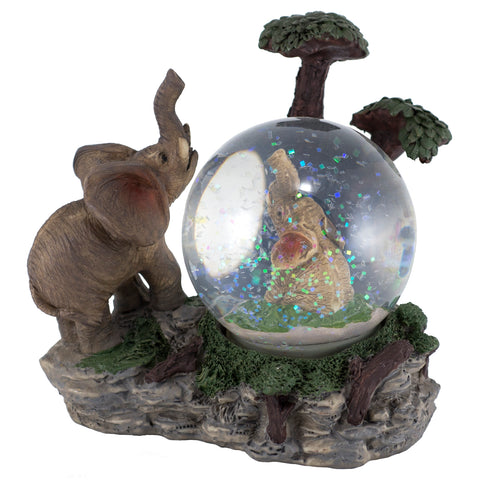 Elephant Snow Globe Dome Figurine 1