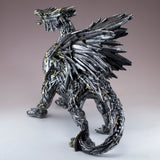 Swords and Knives Dragon Silver Colored Figurine Statue 4