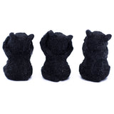 See, Hear, Speak No Evil Black Bear Figurines Statues 3