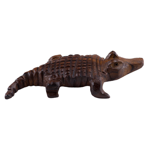 Alligator Hand Carved Ironwood Wood Figurine 6