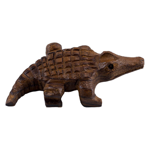 Alligator Hand Carved Ironwood Wood Figurine 1